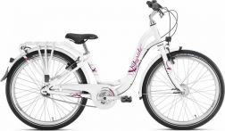 "Dviratis 24"" PUKY Skyride 24-7 City light white"