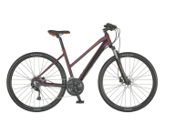 "Dviratis 28"" Scott Sub Cross 40 Lady bordo"