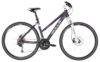 "Dviratis 28"" Bulls Cross Bike 2 27g Trapez purpurinis"