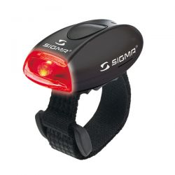 Žibintas Sigma MICRO BLACK/LED-Red