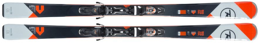 Slidės su apkaustais Rossignol EXPERIENCE 80 HD (XPRESS) XPRESS 11 B83 BLACK ORANGE