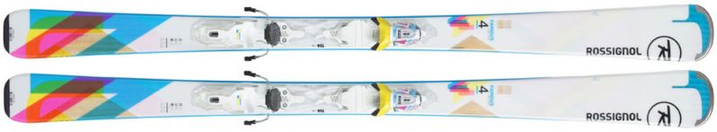 Slidės su apkaustaisRossignol FAMOUS 4 (XPRESS) balta  XPRESS W 10 B83 WHITE BLUE