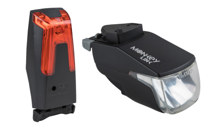 Žibintų komplektas MonkeyLink ML-MonkeyLight 50 Lux Set Rech